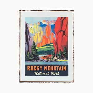 Rocky Mountain Park Framed Print