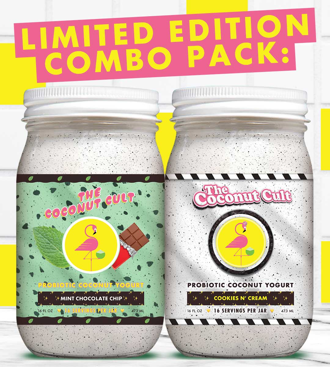Combo Pack: 16oz Mint Chocolate Chip & Cookies N' Cream