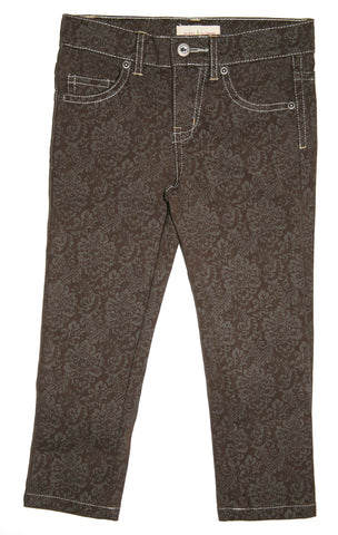 Damask Print Jean-Brown