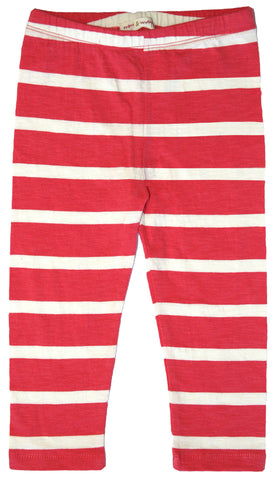 French Stripe Leggings-Rose