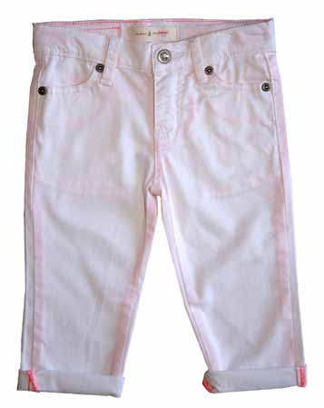 Salt Water Skinny Capri-White