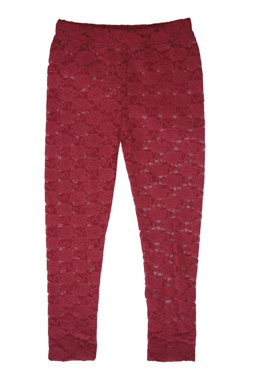 Lacey Leggings Burgundy