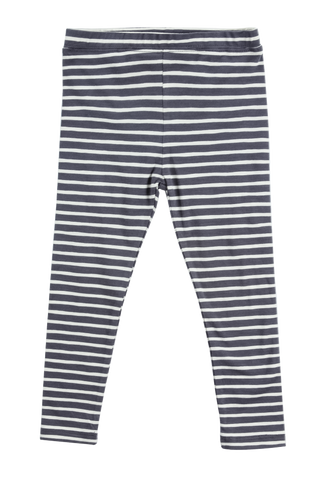 Happy Stripe Legging-Charcoal