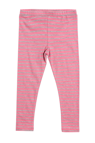 Happy Stripe Legging-Rose