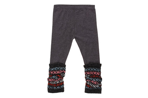 Sonora Jacquard Leggings- Charcoal
