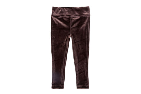 Stretch Velour Legging-Brown