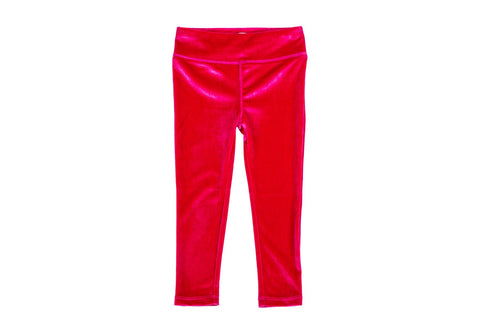 Stretch Velour Legging-Fuschia