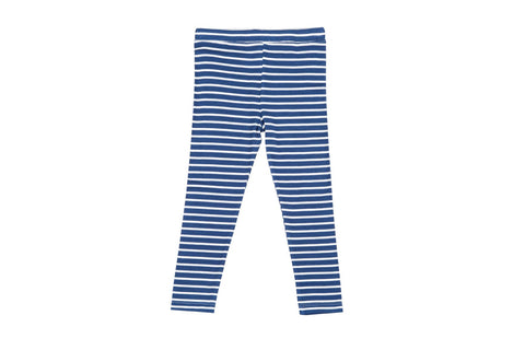 Super Soft Stripe Legging- Indigo