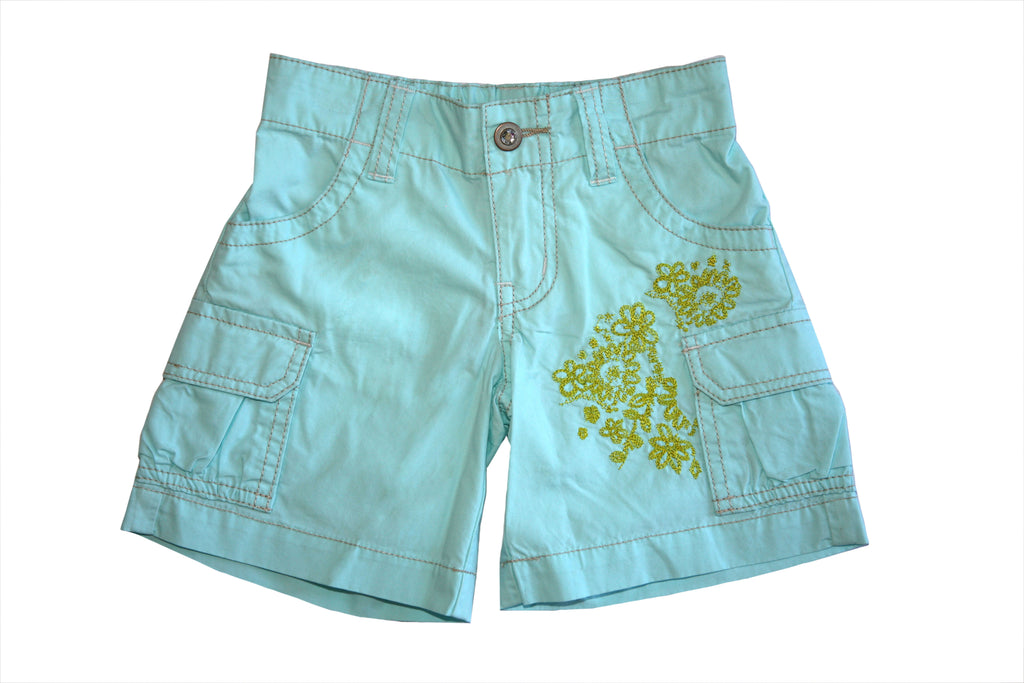Vacation Cargo Short-Aqua