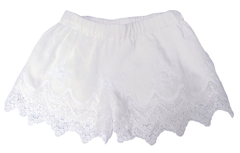 Pretty White Lace Shorts