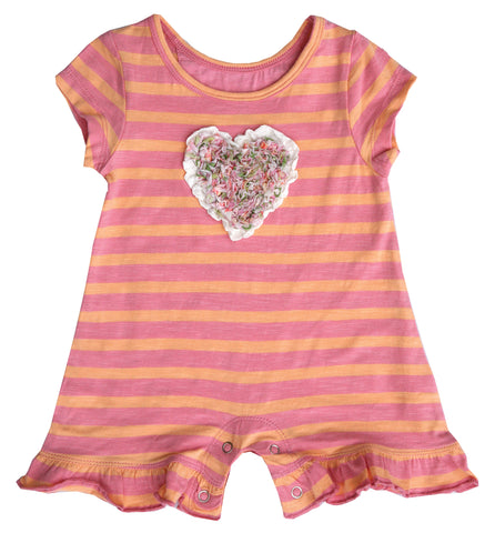 Heart Stripe Romper