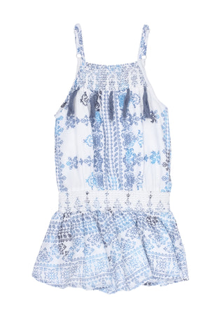 Calm Sea Romper-Blue