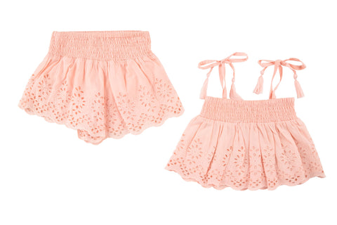 Posy 2 Piece Eyelet Cami & Short Set