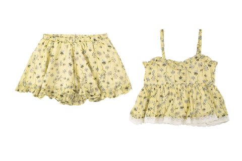Blossom Cami & Short 2 Piece Set- Yellow