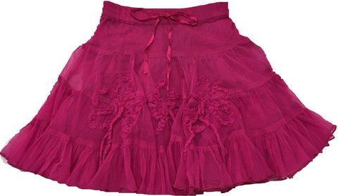 Romantic Roses Skirt Burgundy