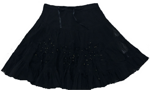 Romantic Roses Skirt-Black