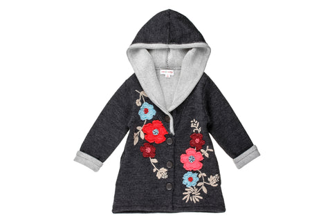 Wooly Flowers Embroidered Coat