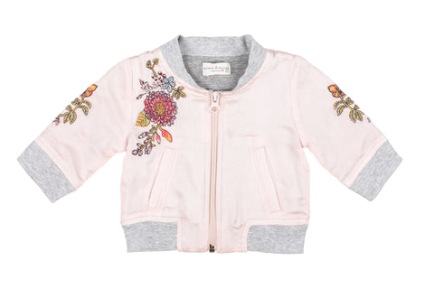 Silky Flowers Baby Jacket