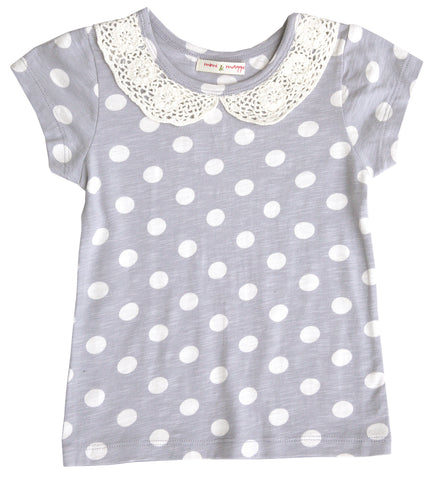 Crochet Collar Dot Tee