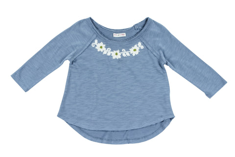 Thalia Knit Top-Indigo