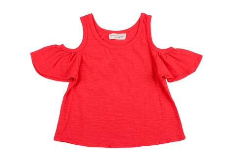 Cool Shoulders Tee-Orange