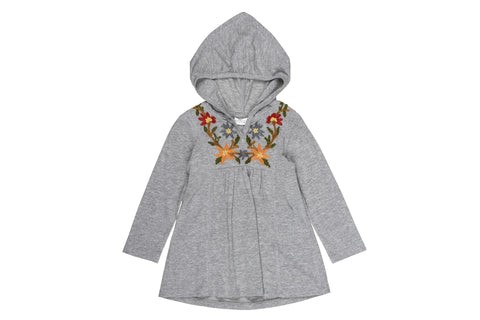 Folkloric Embroidered Hoodie Dress