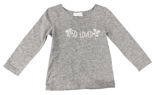 so loved embroidered tee
