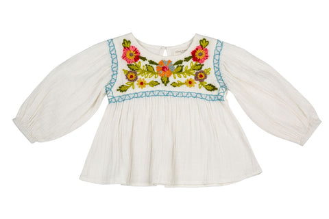 Craft Flowers Peasant Top