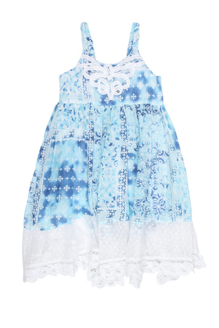 Island Cloud Dress-Blue