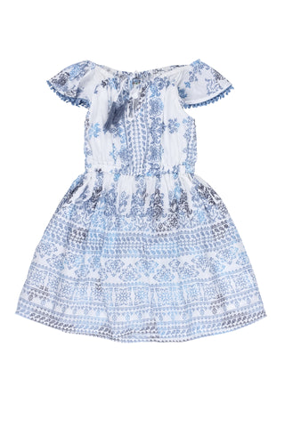 St. Maarten Dress-Blue