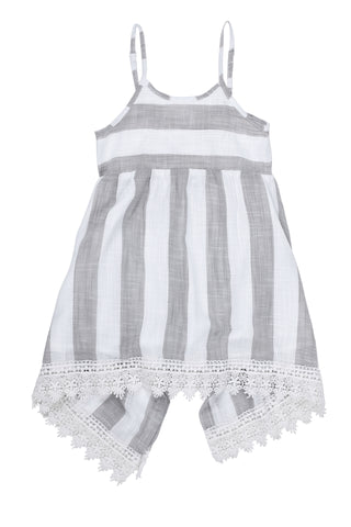 Grey & White Stripe Dress