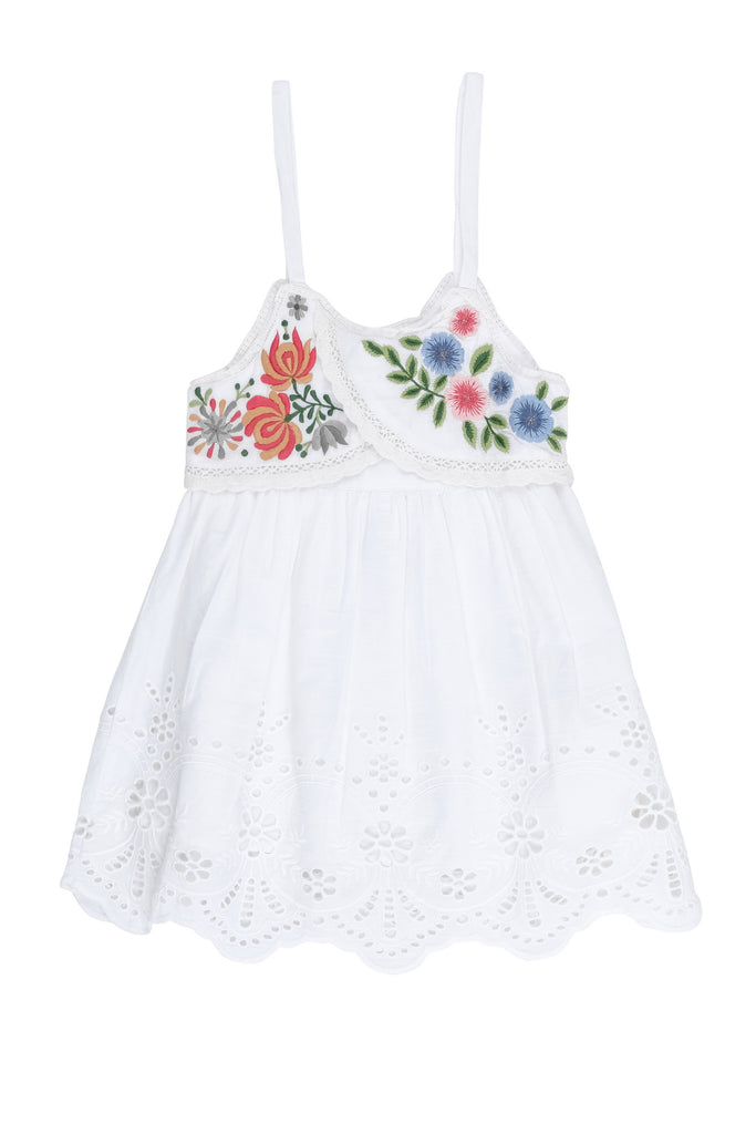 Vintage Mixed Embroidered Dress