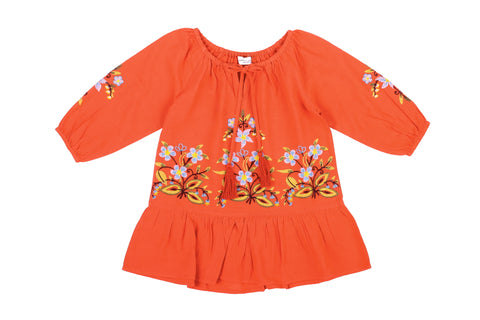 Arts & Crafts Dress- Orange