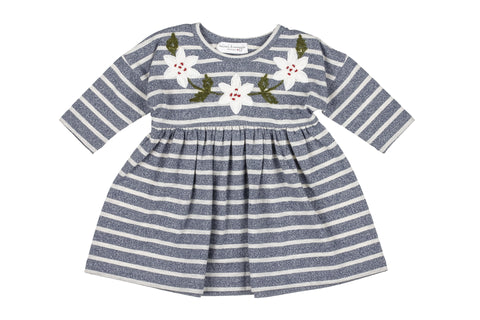 Everyday Stripe Dress- Indigo