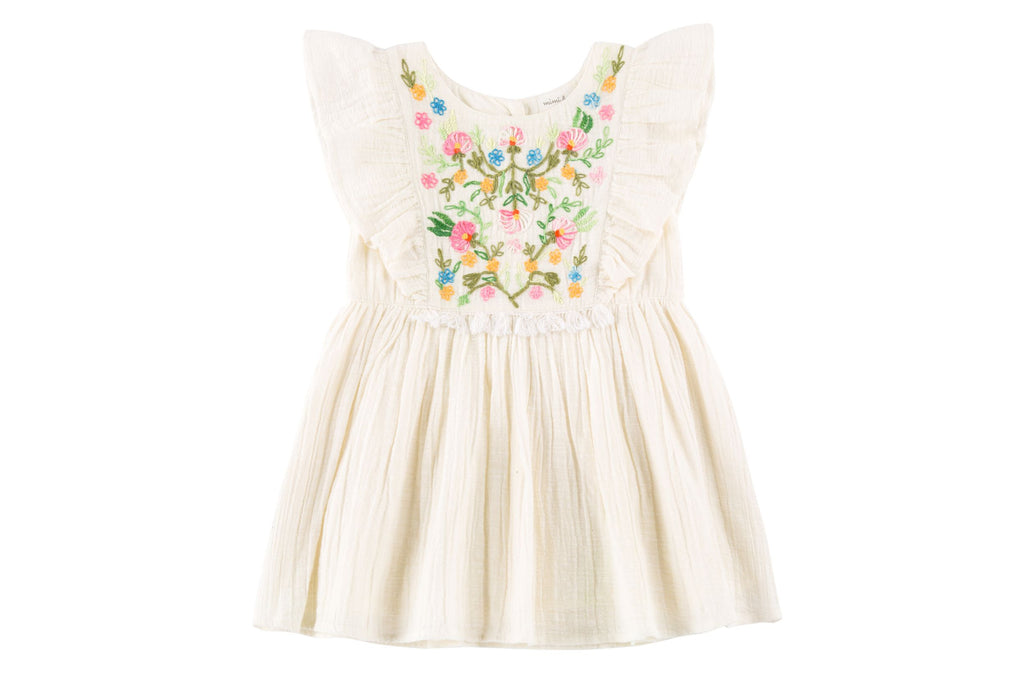Desert Wildflowers Embroidered Dress