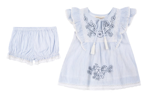 Savannah Embroidered Dress & Diaper Cover