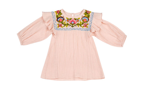 Lucie Embroidered Yoke Dress