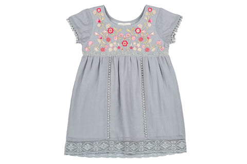 ashlee embroidered dress