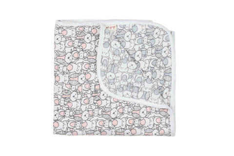 Cats, Bunnies, Owls Long Blanket