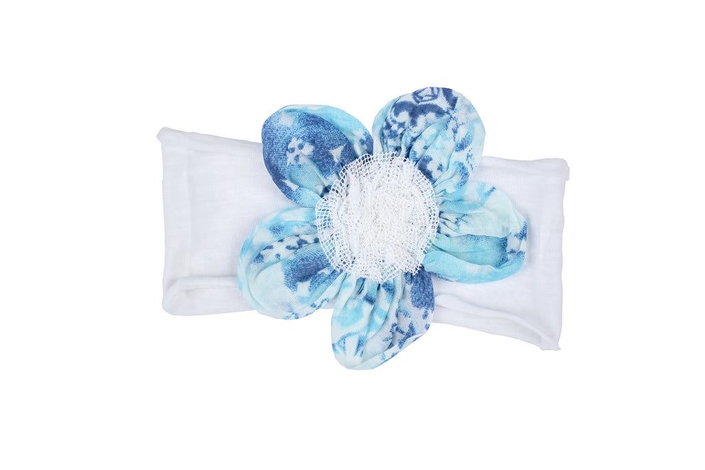 Cloud Flower Headband-Blue
