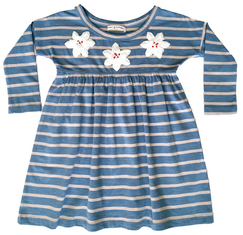 Autumn Picnic Dress Blue-dresses