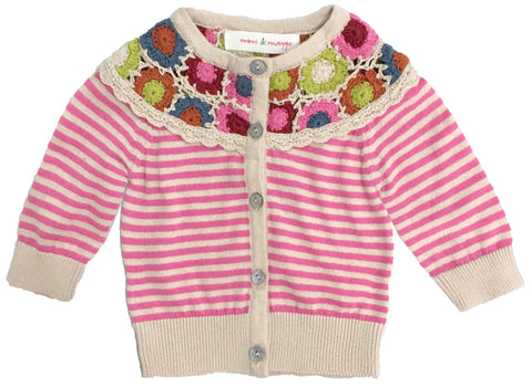 Avery Hand Crocheted Collar Cardigan-sweaters