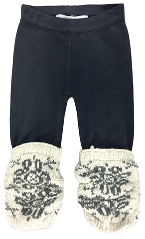Baby Jacquard Flower Scrunchy Leggings-leggings
