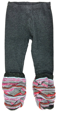 Blanket Stripe Scrunchy Leggings-leggings