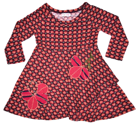 Cookie Cutter Flower Dress Red-dresses