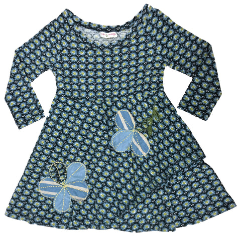 Cookie Cutter Flower Dress Blue-dresses
