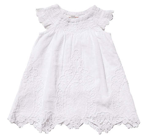 French Tablecloth Dress + Diaper Cover