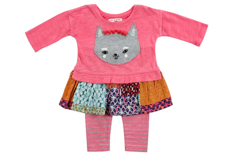 Cat Face Dress 2PC Set