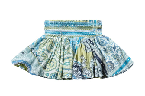 Mosaic Scarf Skirt-Blue