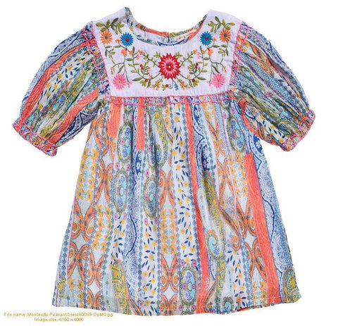 Montecito Peasant Dress
